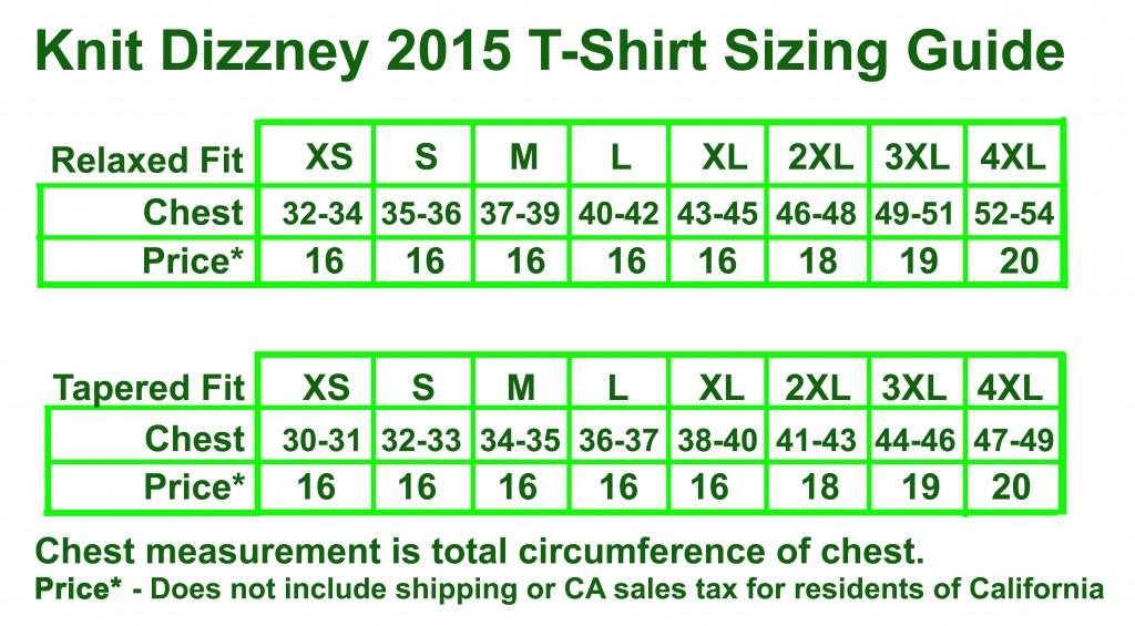 Shirt Chart