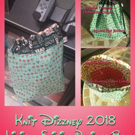Knit Dizzney 2018 Project Bag